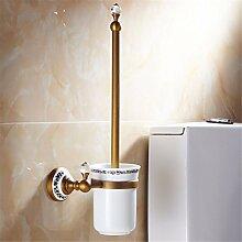 weihnachten European Copper Patina imitation Porzellan Kristall accessoires badezimmer set Aktivität Handtuchhalter Seifenschale, WC-Bürste