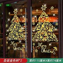 Weihnachten gebürstetem Glas Aufkleber Frohe