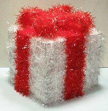 Weihnachten Geschenkbox 10 Lichter mit roter Schleife Weihnachtsgeschenk Dekoration