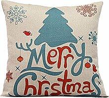Weihnachten Geschenkidee Leinenkissenabdeckung Zierkissenbezug, Weihnachtsbaum Merry Christmas, Hauptfarbe Beige, Versandfertig nicht vor weihnachten
