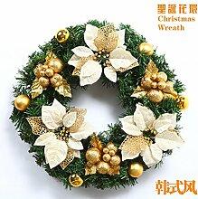 Weihnachten Girlanden Gold Kranz rattan Ring Kranz Türen Kleiderbügel