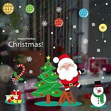 Weihnachten Glas Aufkleber Hirsch Schneeflocke