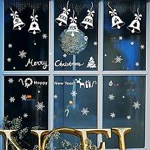 Weihnachten glas dekoration schneeflocke glocken wandaufkleber fensteraufkleber hotel shop fenster aufkleber szene layout aufkleber