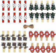 Weihnachten Holz Clips Mini klein Holzklammern DIY