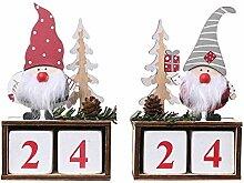 Weihnachten Holz Countdown Adventskalender Bloc,