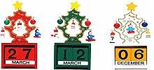 Weihnachten Holz Countdown Adventskalender Mit