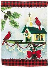Weihnachten in der Garten Flagge