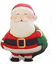 Weihnachten Kissen Weihnachtsmann, Schneeflocke, Schneemann, Elch, Socken, Weihnachten Kissen Spielzeug 40x40cm (7)
