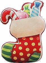 Weihnachten Kissen Weihnachtsmann, Schneeflocke, Schneemann, Elch, Socken, Weihnachten Kissen Spielzeug 40x40cm (1)