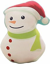 Weihnachten Kissen Weihnachtsmann, Schneeflocke, Schneemann, Elch, Socken, Weihnachten Kissen Spielzeug 40x40cm (9)
