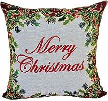 Weihnachten Kissenbezug Kissenhülle 45x45 cm für