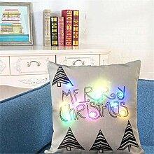 Weihnachten Kissenbezug mit LED Leuchten