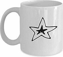 Weihnachten Kritzeleien Stern Kaffeetassen -