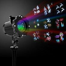 Weihnachten LED Projektor Lampe mit 16