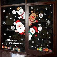 Weihnachten Neujahrs Urlaub Anordnung Fenster Aufkleber Papier Unternehmen Shop Dekoration Tür Aufkleber