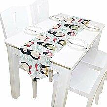 Weihnachten Pinguin Tischläufer, Tischdecke