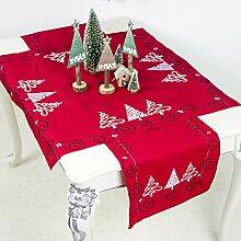 Weihnachten rechteckige Tischdecke ideal für 6-8