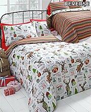 Weihnachten Rentier, Bettbezug & 2Kissenbezüge