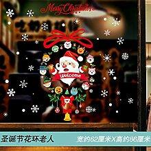 Weihnachten Santa Claus Wandaufkleber Fenster