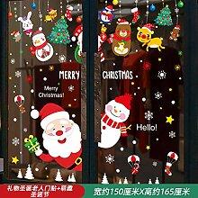 Weihnachten Santa Tür Aufkleber Atmosphäre Glas