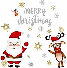 Weihnachten Schneeflocke Weihnachten Wandaufkleber
