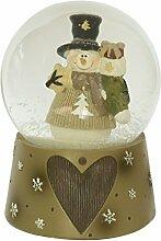 Weihnachten Schneekugel Schneemann Spieluhr Jingle