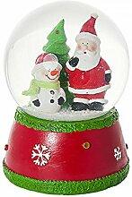Weihnachten Schneekugel Spieluhr mit