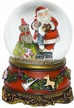 Weihnachten Schneekugel Spieluhr Weihnachtsmann We