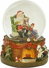 Weihnachten Schneekugel Weihnachtsmann Spieluhr We