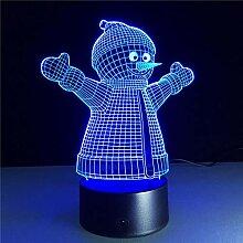 Weihnachten Schneemann 3D Lampe Acryl Nachtlicht