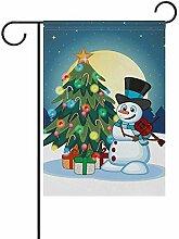 Weihnachten Schneemann mit Hut doppelseitige
