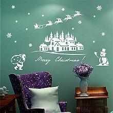 Weihnachten Schneemann Wandaufkleber Weihnachten
