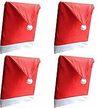 Weihnachten Stuhl Hussen Weihnachtsmütze