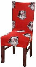 Weihnachten Stuhlhusse Waschbar Stuhlüberzug