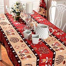 Weihnachten Tischdecke Tuch QJIAXING Baumwolle Gepolsterte Wasserdichte Tischdecke Serviette Dekoration , red , 100*140cm