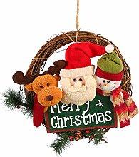 Weihnachten Tür hängende Kranz Cute Cartoon