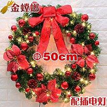 Weihnachten Türen Wandbehänge Weihnachtsschmuck Kranz Kleiderbügel
