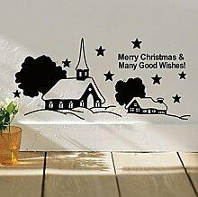 Weihnachten wandtattoo glserne fensteraufkleber