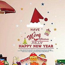 Weihnachten Weihnachten Schneeflocke Wandaufkleber