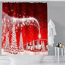 Weihnachten Weihnachtsbaum Bad Vorhang Frohe