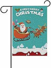 Weihnachten Weihnachtsmann mit Schlitten Rentier