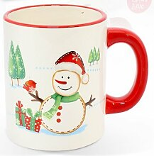 Weihnachten Weihnachtsmann oder Schneemann tasse.