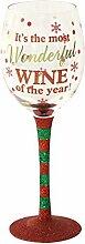 Weihnachten Weinglas Most Wonderful Wein des Jahres