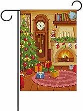 Weihnachten Wohnzimmer mit Sofa doppelseitige