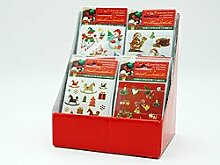 Weihnachtliche Deko-Sticker, selbstklebend