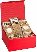 Weihnachtliche Geschenkbox mit graviertem