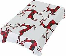 Weihnachtliche Hirsch-Tischdecke für Zuhause,