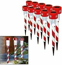 Weihnachtliche LED-Lichtspieße zum Erleuchten von