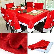 Weihnachtliche rote Tischdecke im