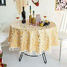 Weihnachtliche Runde Tischdecke, Tischdecke Aus